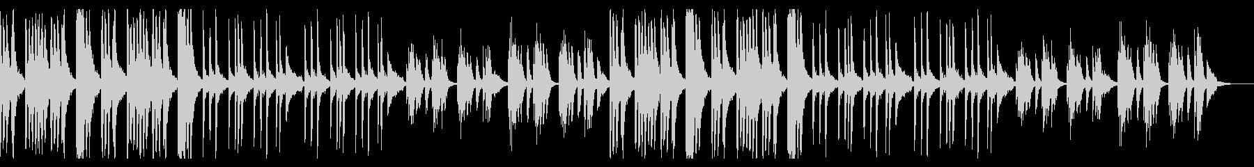 ダークでコミカルでシンプルなBGMの未再生の波形