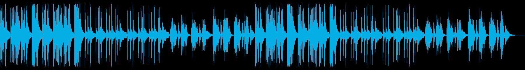 ダークでコミカルでシンプルなBGMの再生済みの波形