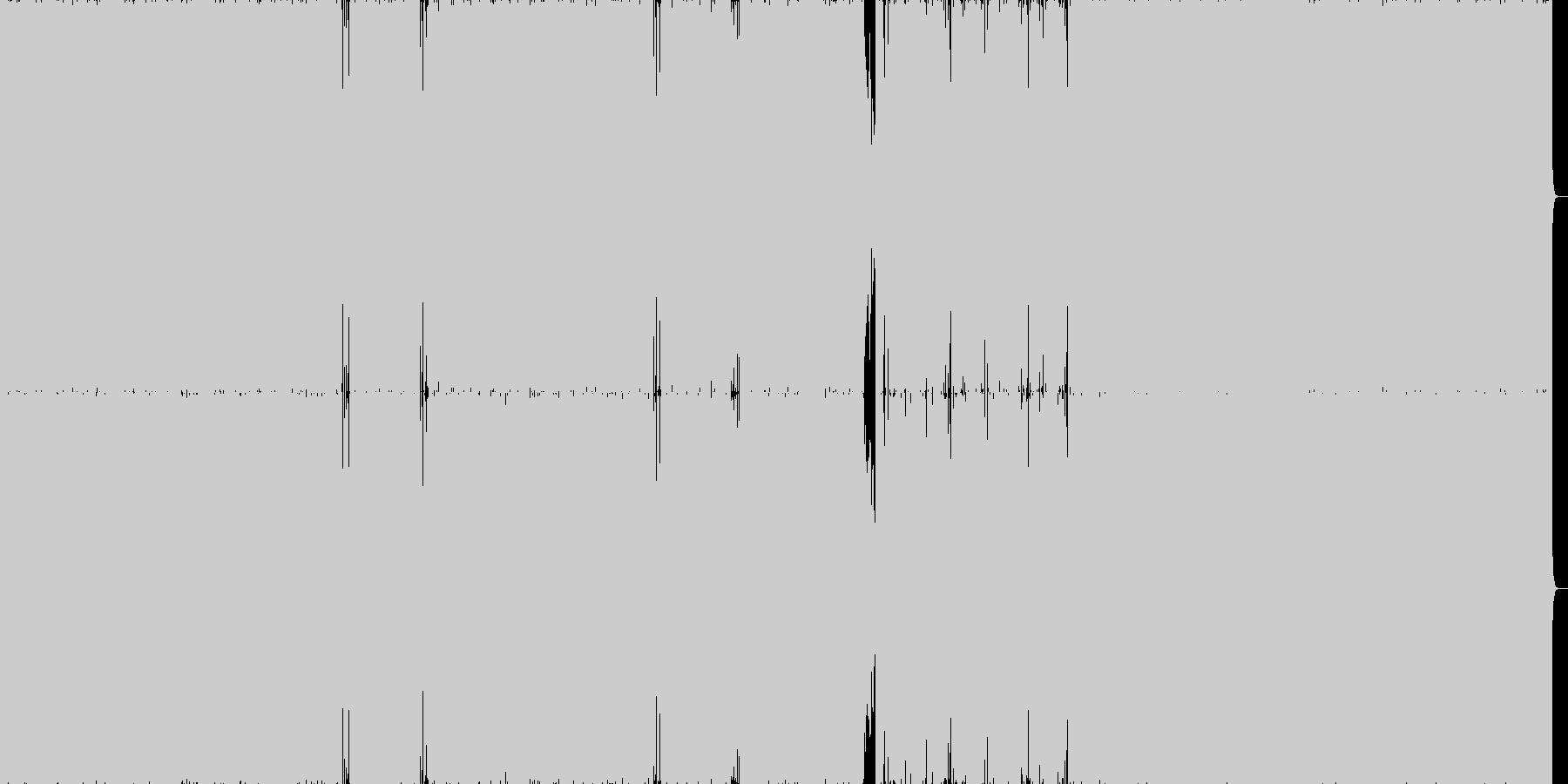 ハードなロックインストの未再生の波形
