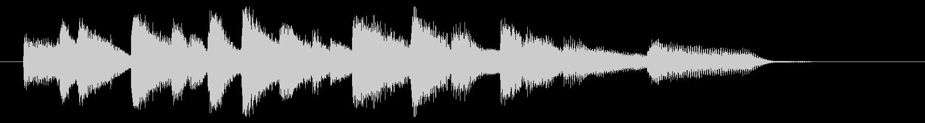 オシャレなジャズピアノジングル3の未再生の波形