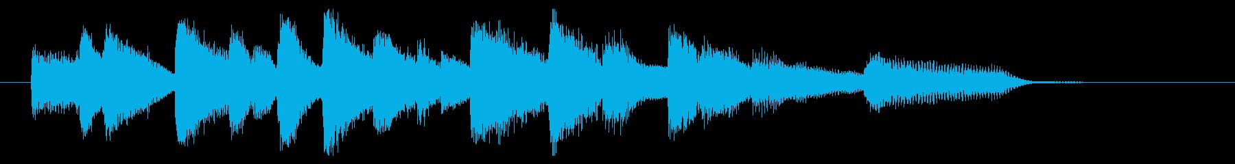オシャレなジャズピアノジングル3の再生済みの波形