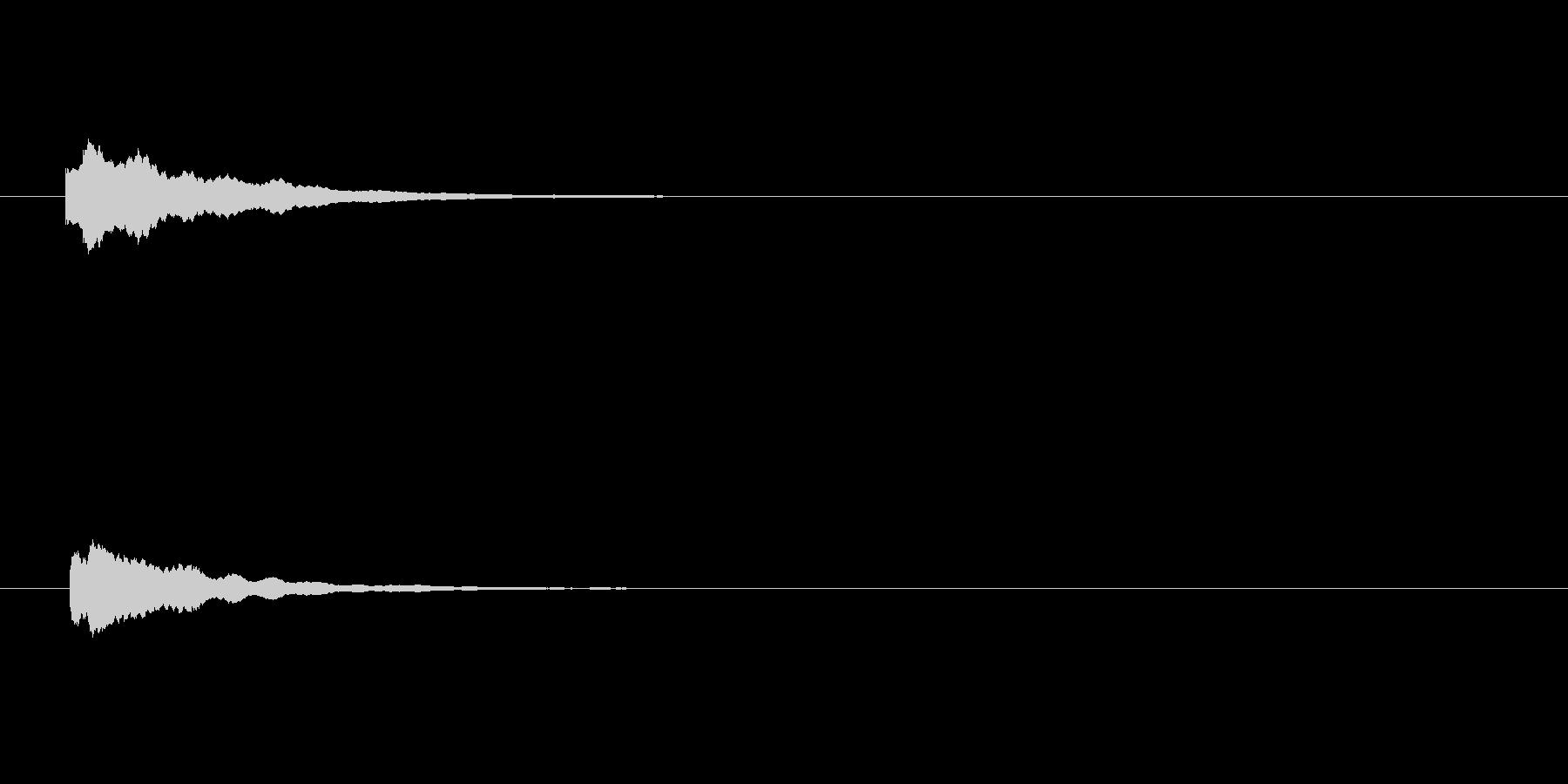 【アクセント25-1】の未再生の波形