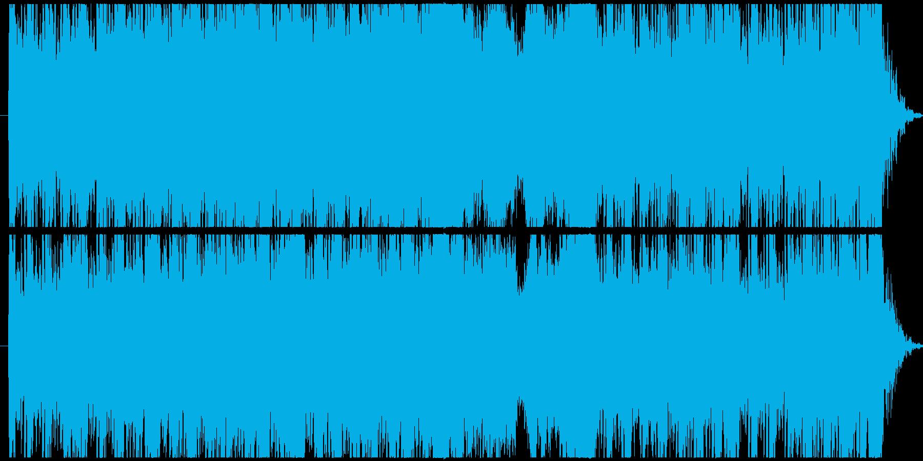 和風のコンセプトミュージックの再生済みの波形