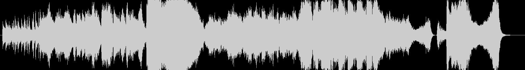 サックスとクラの生演奏ジャズワルツの未再生の波形