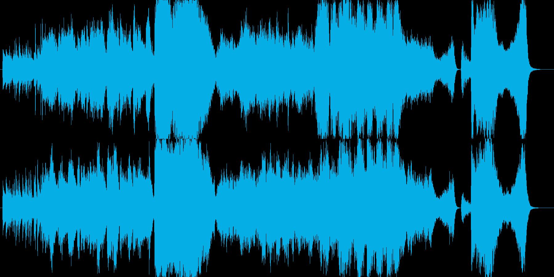 サックスとクラの生演奏ジャズワルツの再生済みの波形