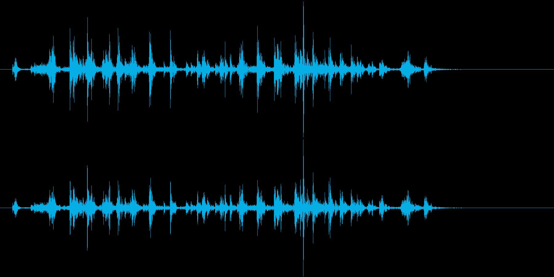 【生録音】カッターナイフの音 13の再生済みの波形