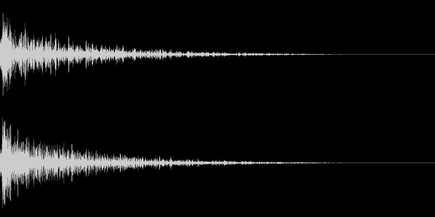 ドーン-12-1(インパクト音)の未再生の波形