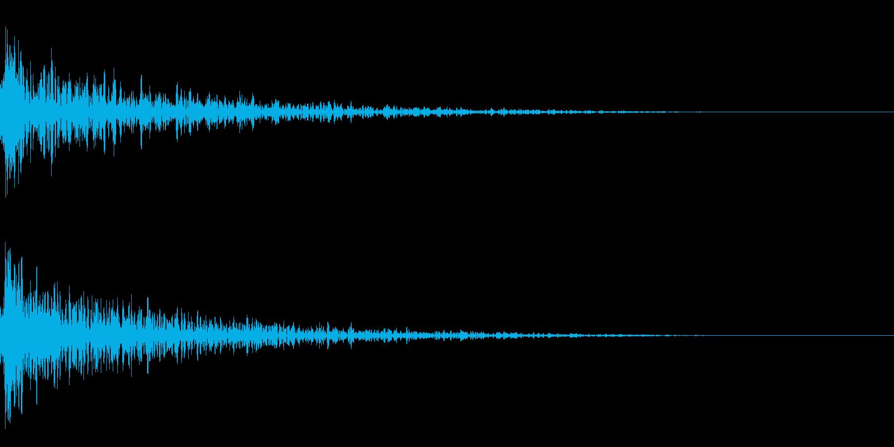ドーン-12-1(インパクト音)の再生済みの波形