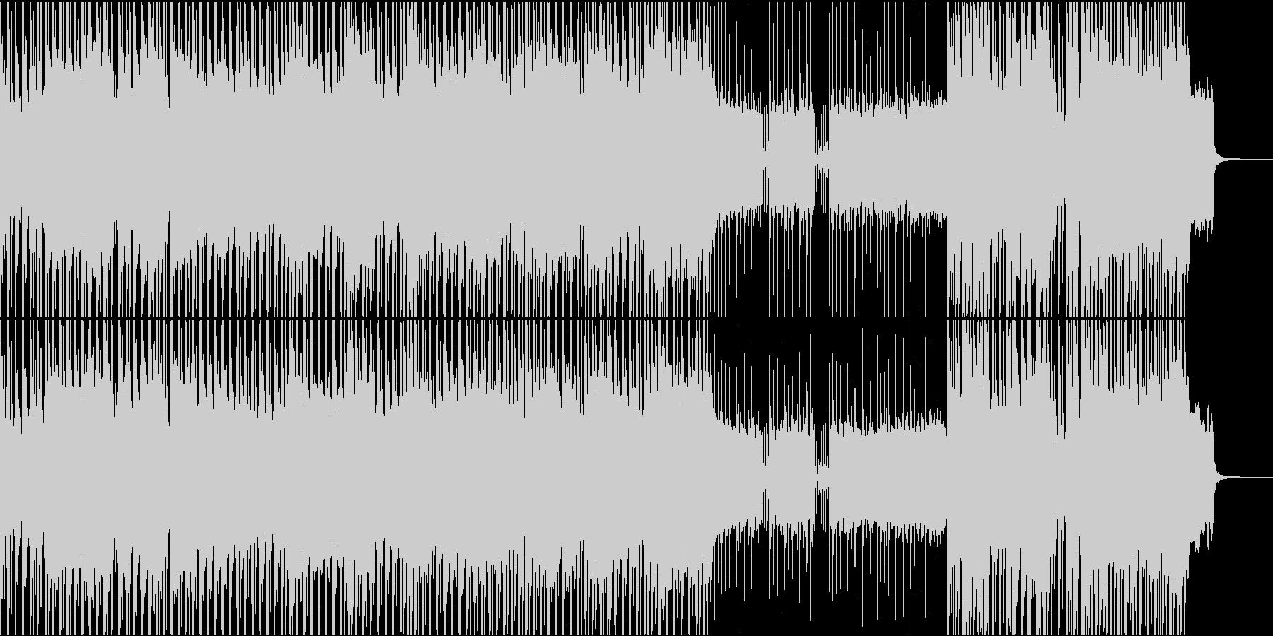 三味線とギターによるアグレッシブな曲の未再生の波形