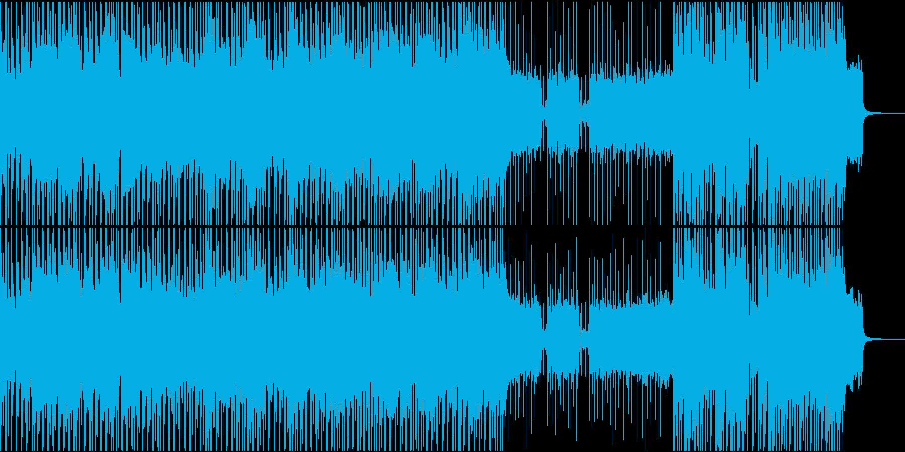 三味線とギターによるアグレッシブな曲の再生済みの波形