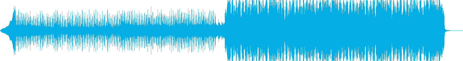 前向きで楽しげなトランスミュージックの再生済みの波形