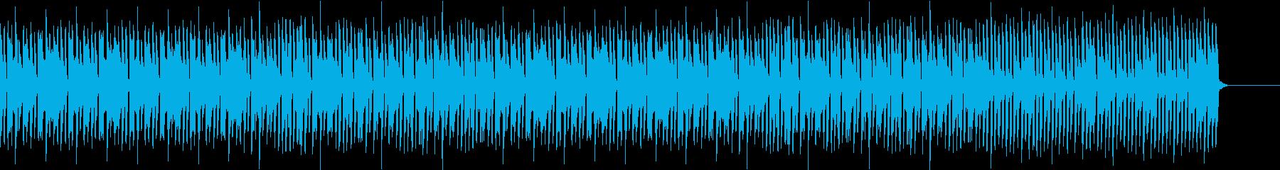 チュートリアルのような優しい音楽の再生済みの波形