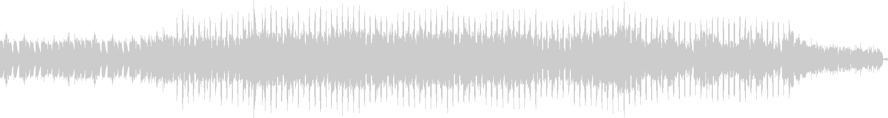 静かにそして強く奏でるEDMの未再生の波形