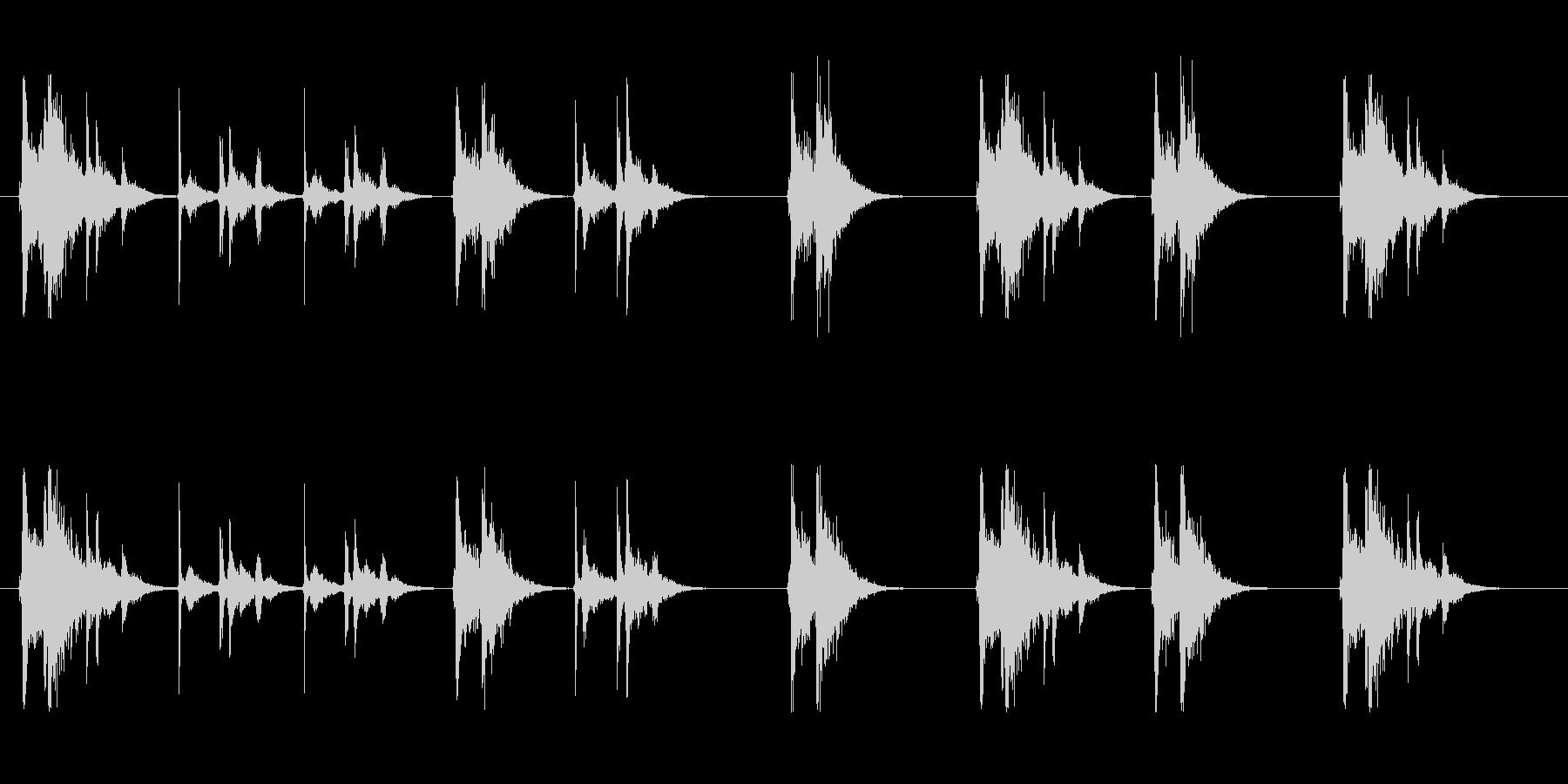 グイーンガチャン…ガチャンプシューの未再生の波形