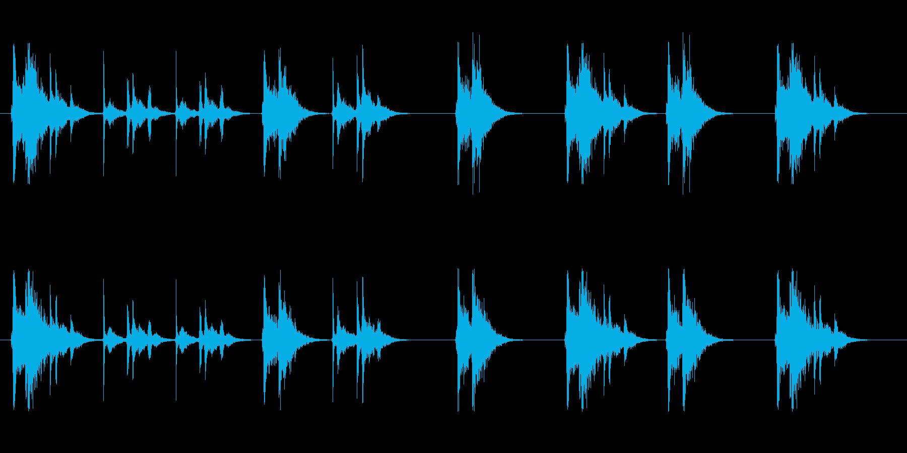 グイーンガチャン…ガチャンプシューの再生済みの波形