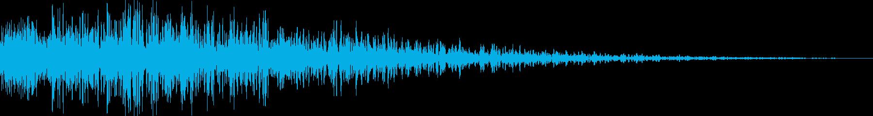 文字出現インパクト(ドンと重い演出)の再生済みの波形