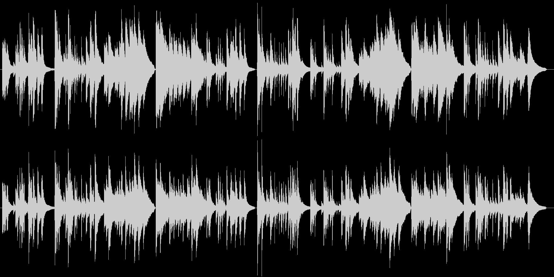 赤とんぼ ピアノ 童謡 の未再生の波形