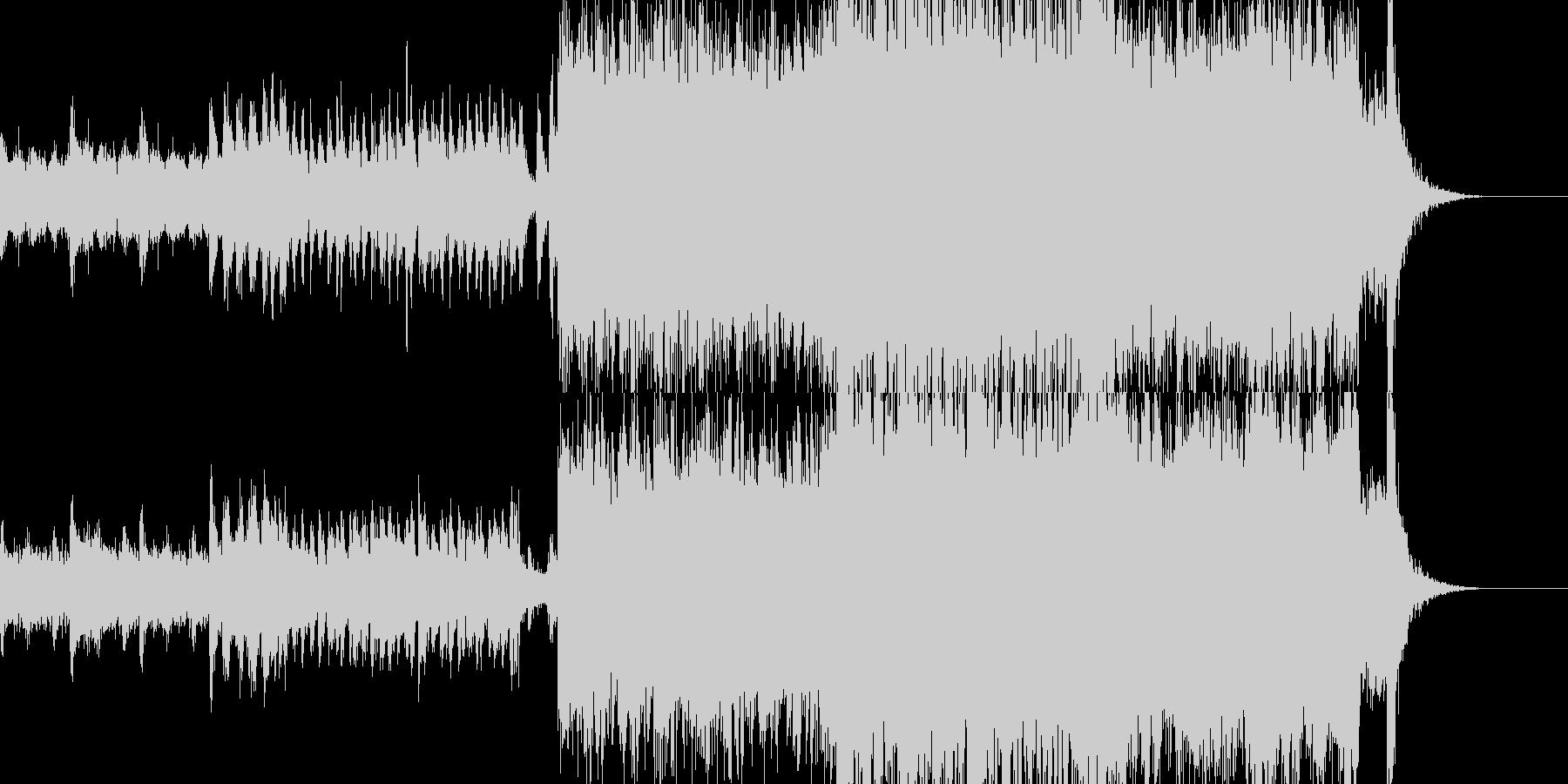 カッコいい出撃シーンにオススメなBGMの未再生の波形