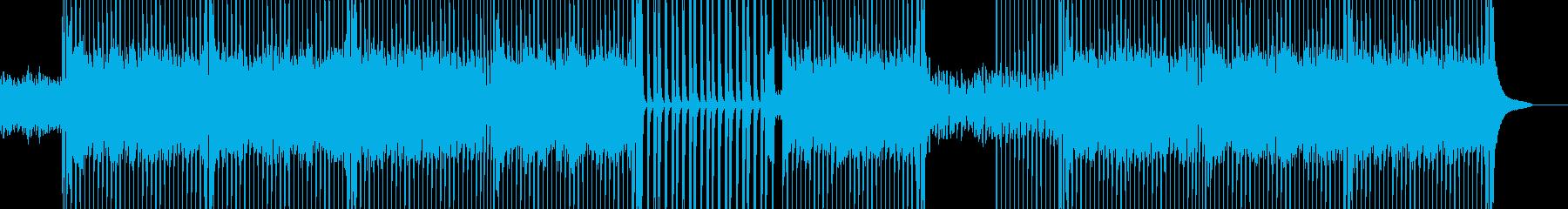 ピアノと軽快なリズムが印象的なポップスの再生済みの波形