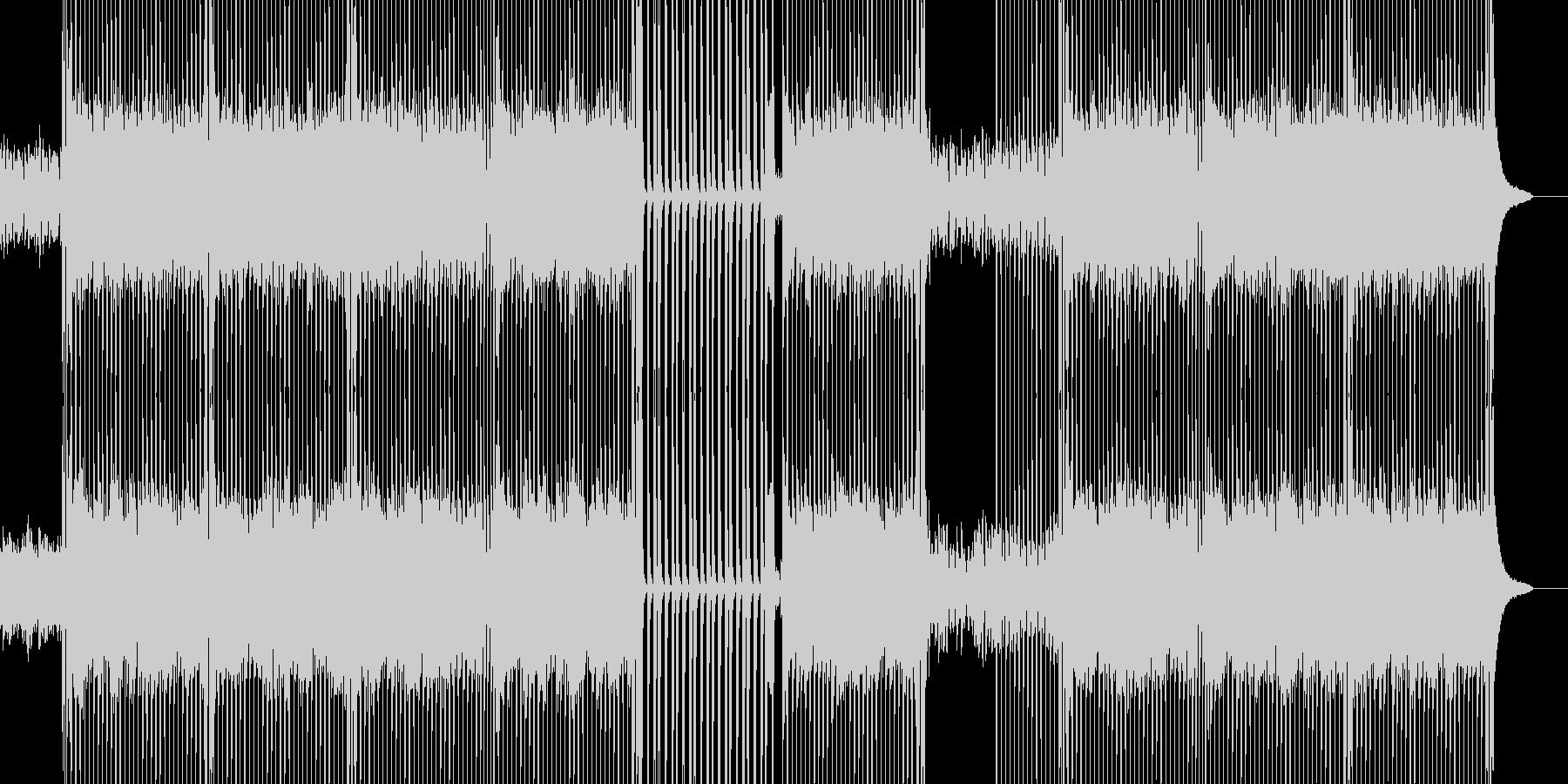 ピアノと軽快なリズムが印象的なポップスの未再生の波形