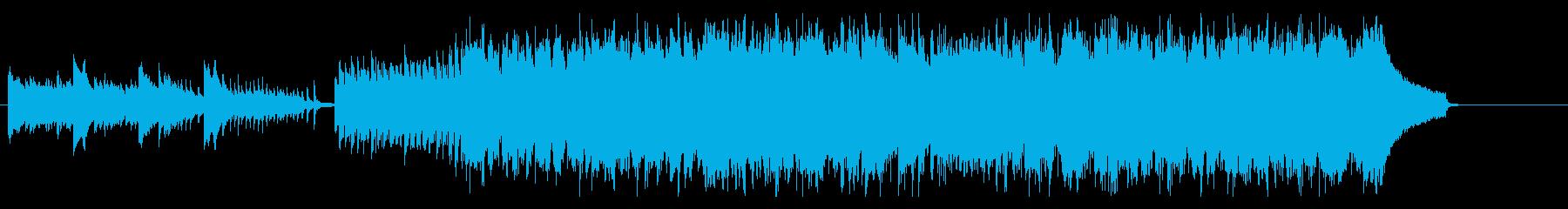 ピアノとフルートが特徴のジャズポップスの再生済みの波形