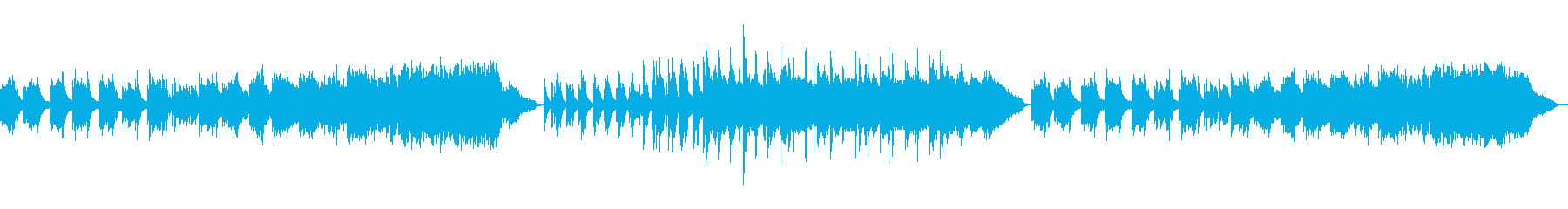 鬱蒼とした雰囲気のBGMの再生済みの波形