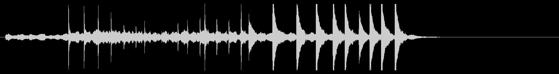 歌舞伎・能◆横笛 小太鼓 残響音の未再生の波形
