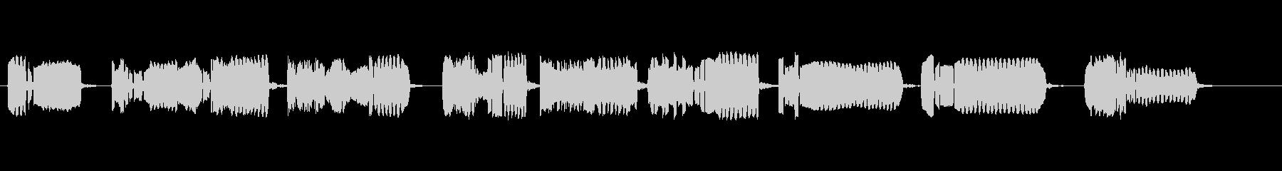 竹笛のソロ演奏の未再生の波形