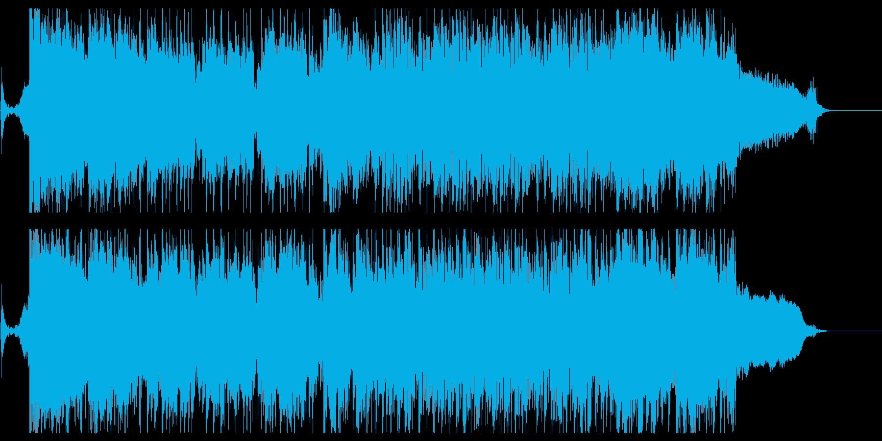 オープニング感のある和風なロックの再生済みの波形