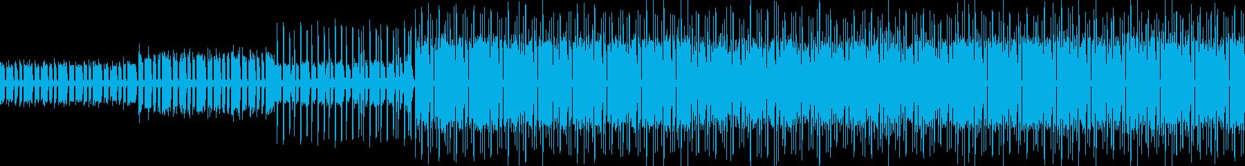 新しくて懐かしいエレクトロミュージックの再生済みの波形