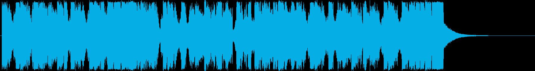 ワブルベースと尺八の和風ダブステップの再生済みの波形