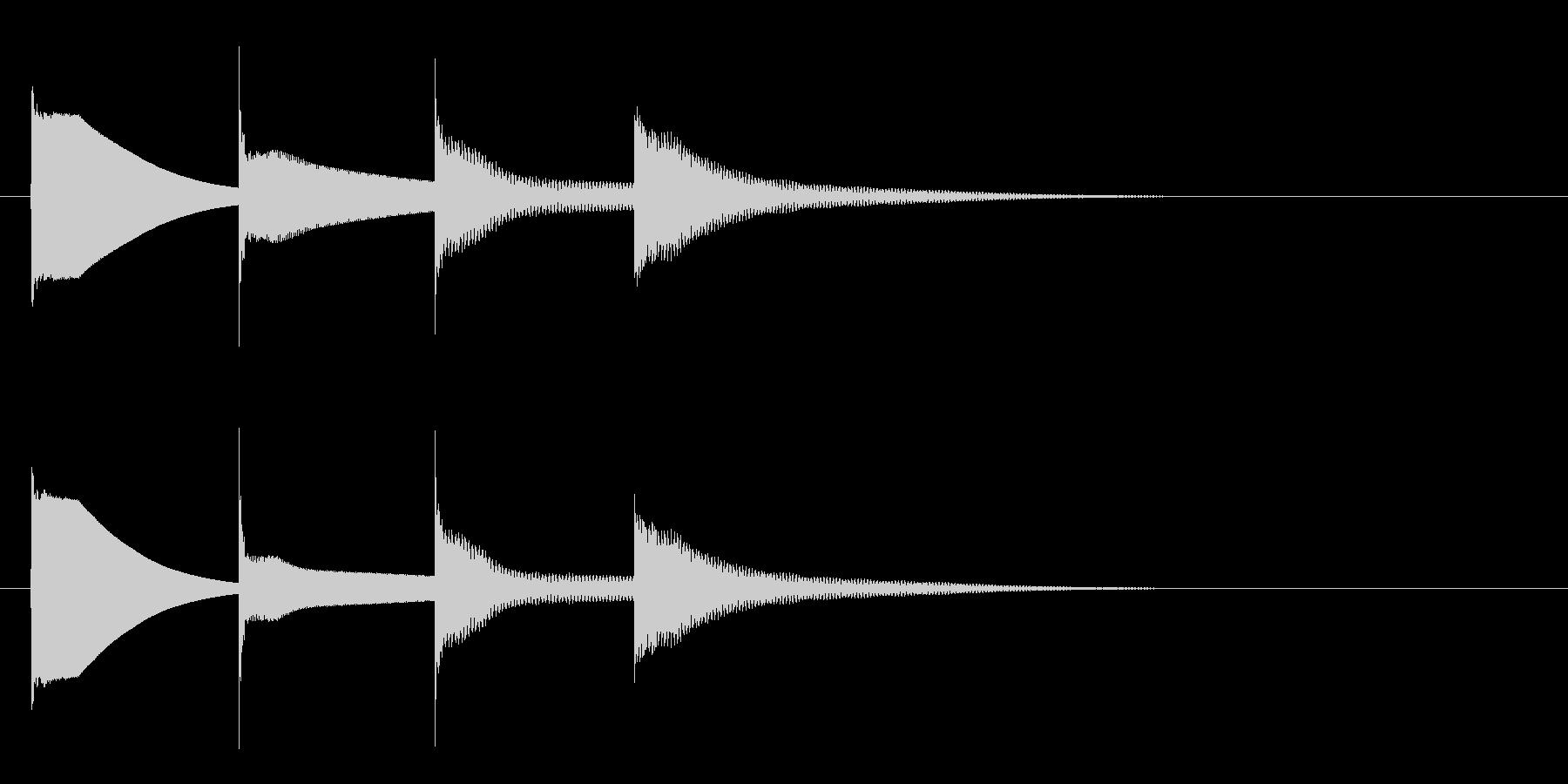 下りチャイム(ラミドラ)の未再生の波形