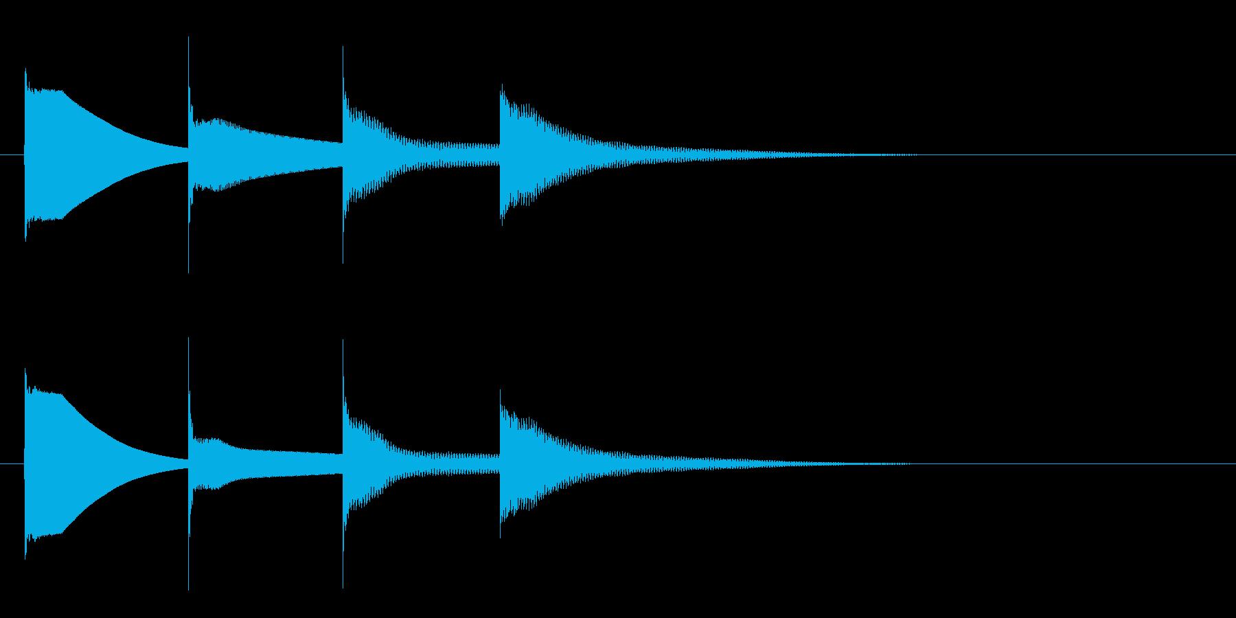 下りチャイム(ラミドラ)の再生済みの波形