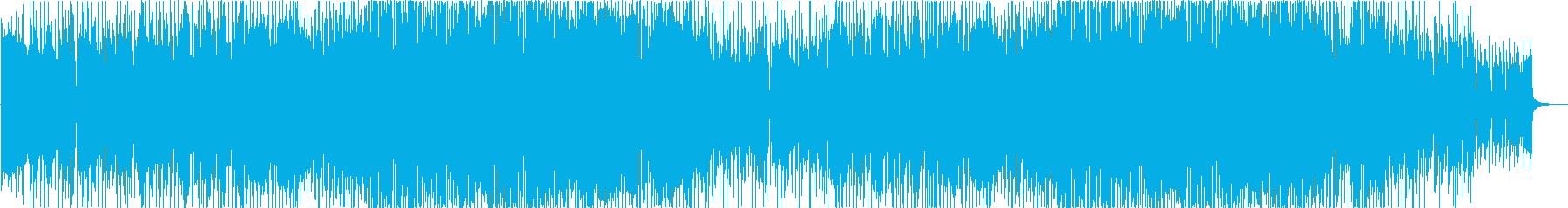 疾走感のあるブラスと爽やかピアノのEDMの再生済みの波形
