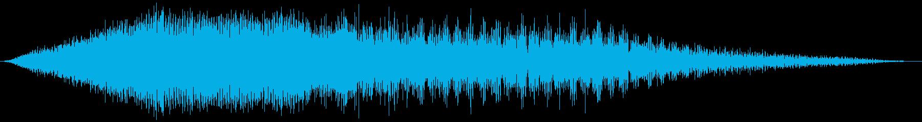 スキャンインフィルターデータスイープの再生済みの波形