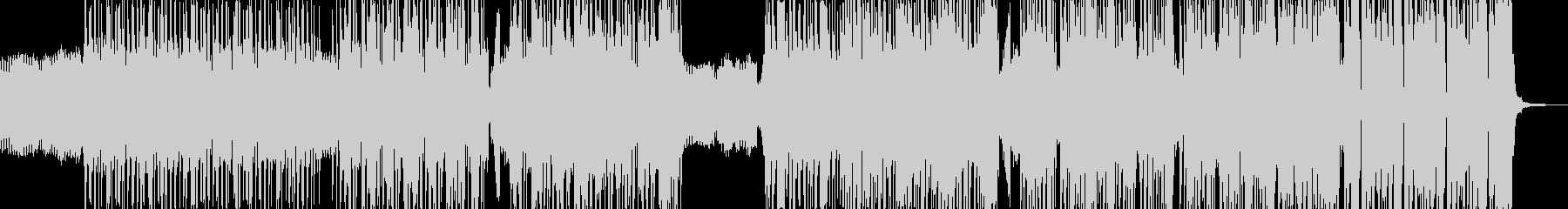 ダークで無機質なヒップ&ベース・ギター有の未再生の波形
