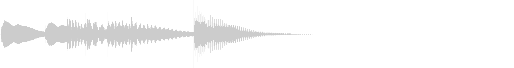 可愛いマリンバの転換のための効果音#1の未再生の波形