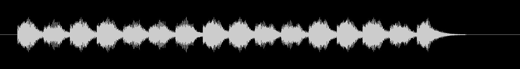 ブーブーブーというアラート音の未再生の波形