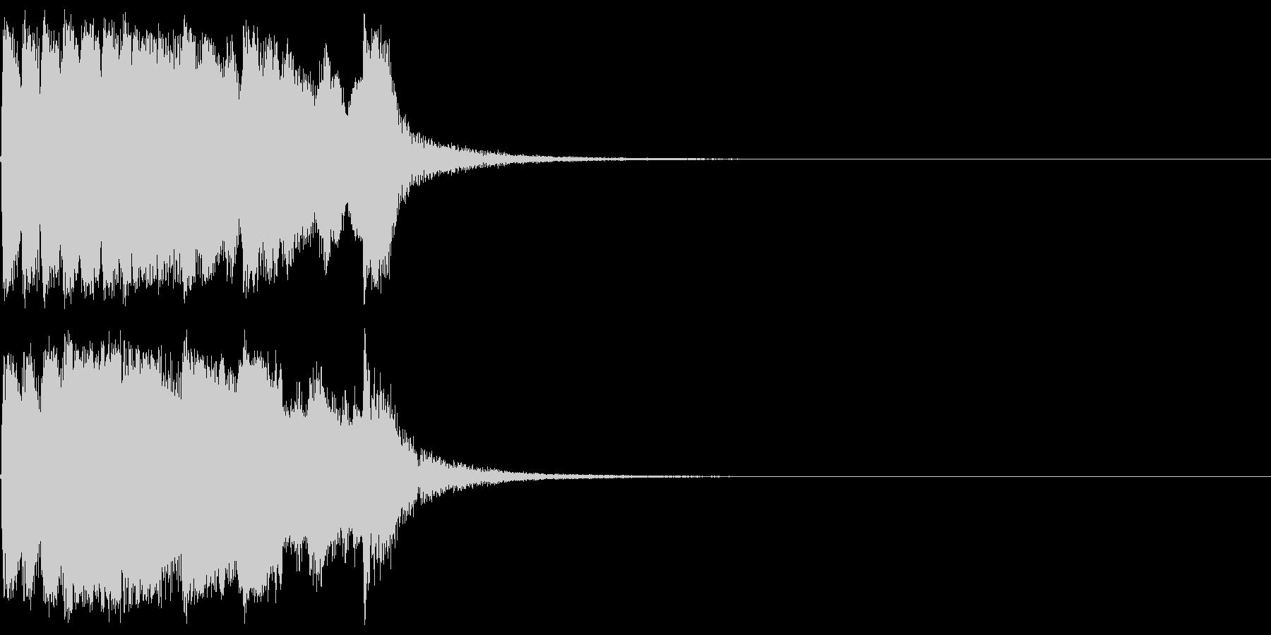 ファンファーレ 当たり 正解 合格 03の未再生の波形
