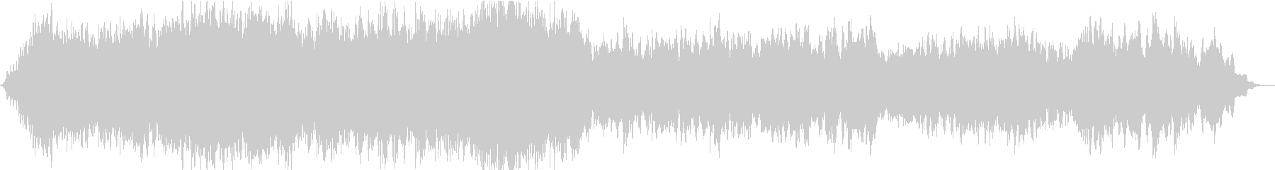 ソルフェジオ周波数による瞑想的な曲の未再生の波形