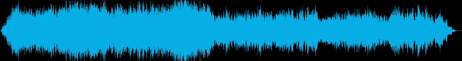 ソルフェジオ周波数による瞑想的な曲の再生済みの波形