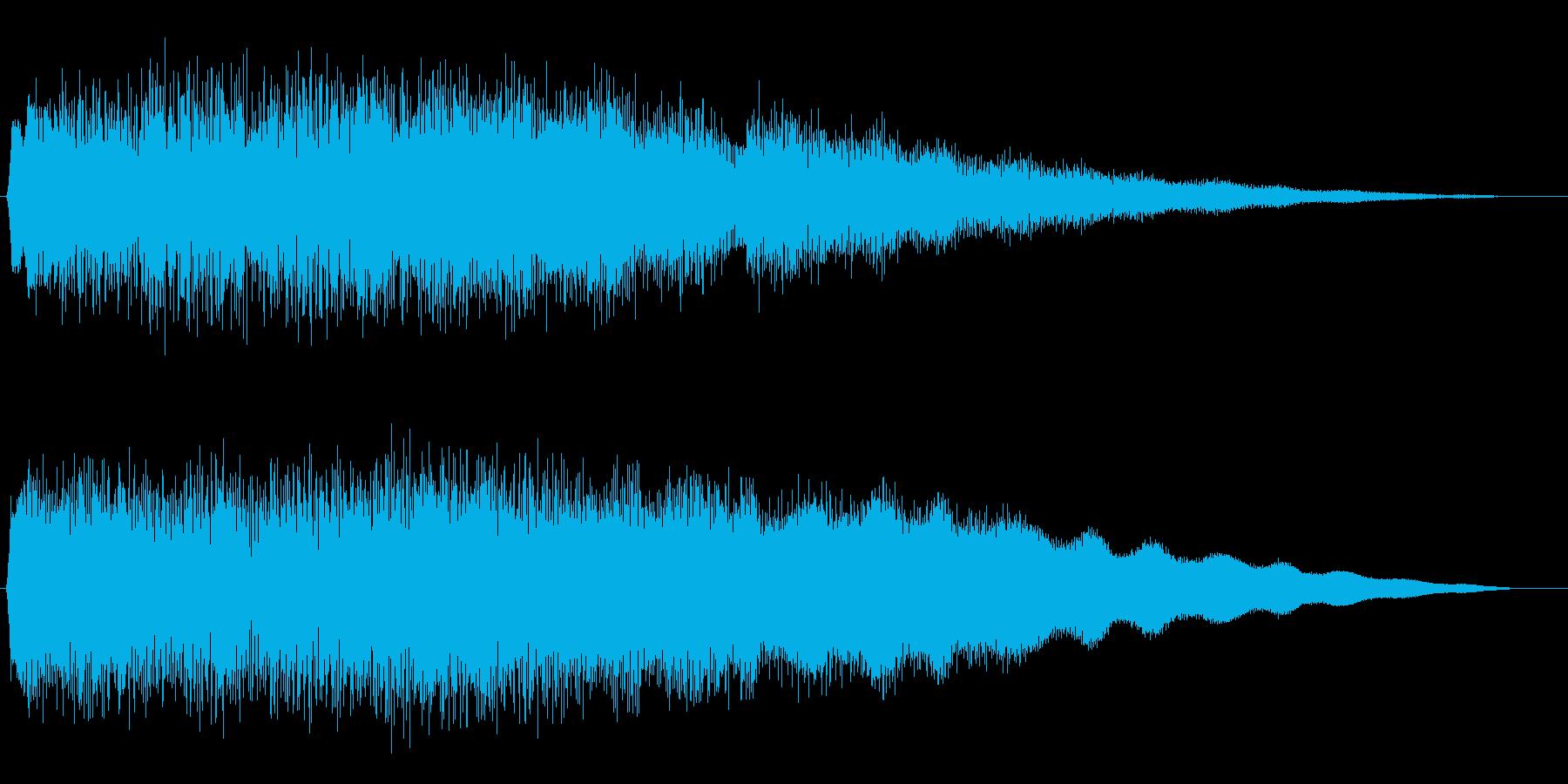 キララララーンご褒美サウンドの再生済みの波形