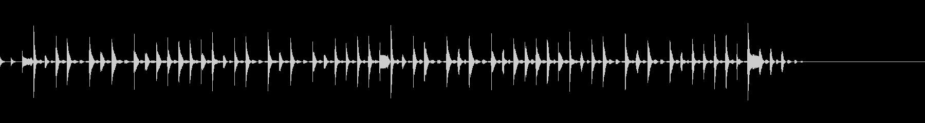 キラキラして浮遊感のあるシンキングタイムの未再生の波形