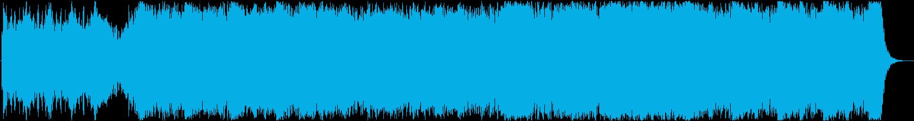 疾走系オーケストラ曲の再生済みの波形