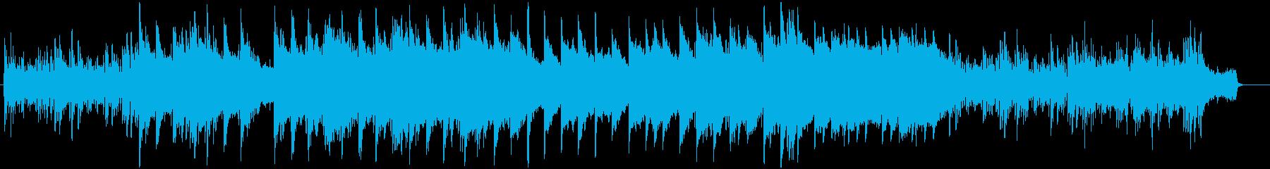 ピアノとストリングスのスローバラードの再生済みの波形