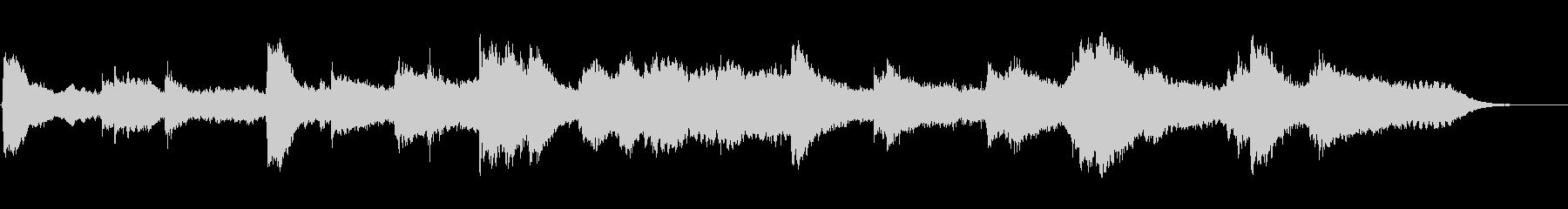 静かなシンセサイザーとピアノの未再生の波形