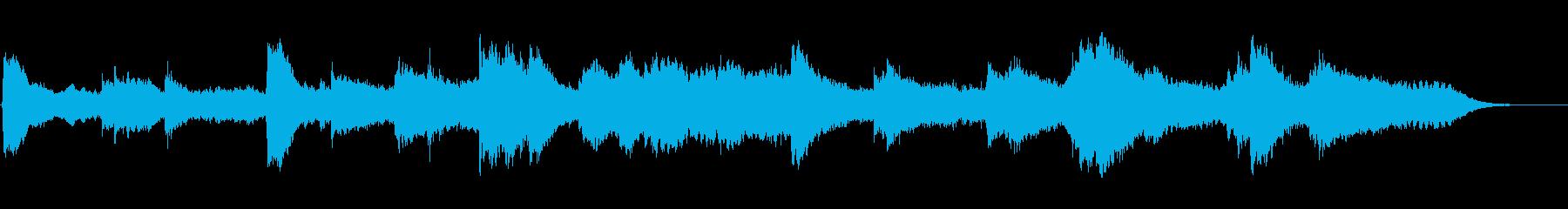 静かなシンセサイザーとピアノの再生済みの波形