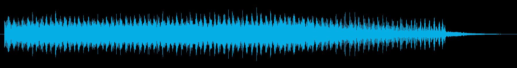 上昇 クラックルノイズ01の再生済みの波形
