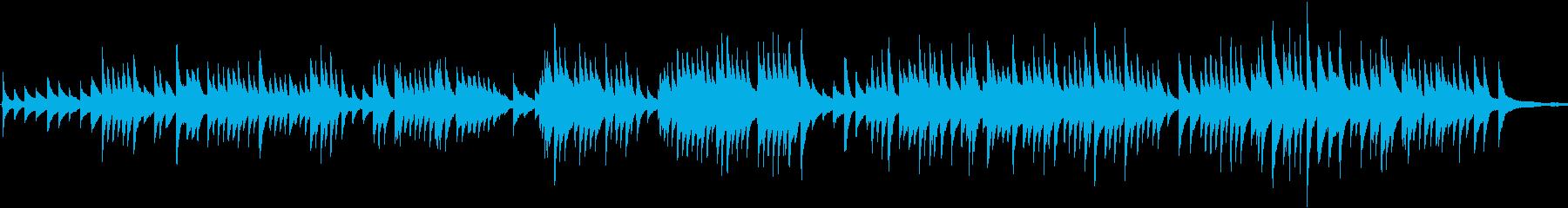 有名なバッハの曲の再生済みの波形