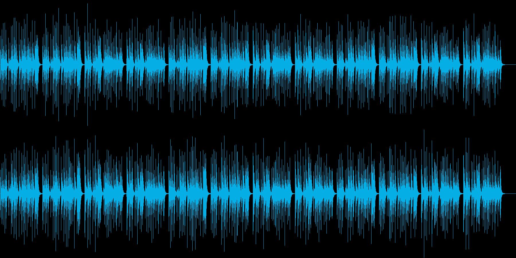ゆったりとした和風オルゴールBGMの再生済みの波形